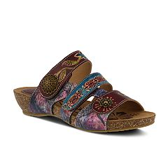Womens L'Artiste By Spring Step Jamila Leather Slide Sandal