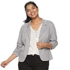 Juniors' Plus Size Candie's® Knit Blazer