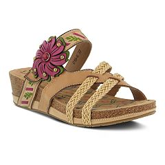 Women's L'Artiste By Spring Step Deonna Leather Slide Sandals