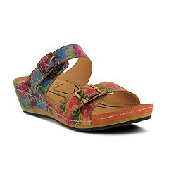 Women's L'Artiste By Spring Step Marilou Leather Slide Sandals