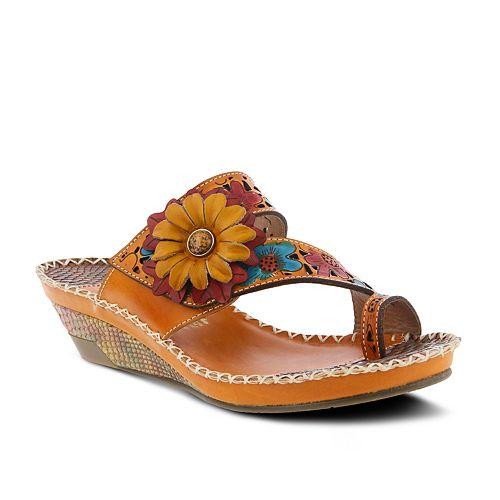 Women's L'Artiste By Spring Step Vardi Leather Slide Sandals