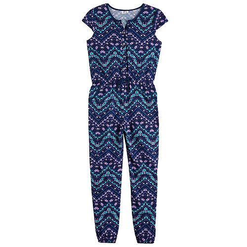 Girls 7-16 Joey B Chevron Jumpsuit