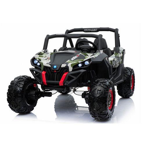 Blazin' Wheels Camo Wild Cross UTV 12V Two-Seater Ride-On
