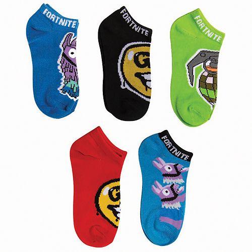 Boys 5-Pack Fortnite Ankle Socks