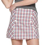 Juniors' Joe B Plaid Button Front Mini Skirt