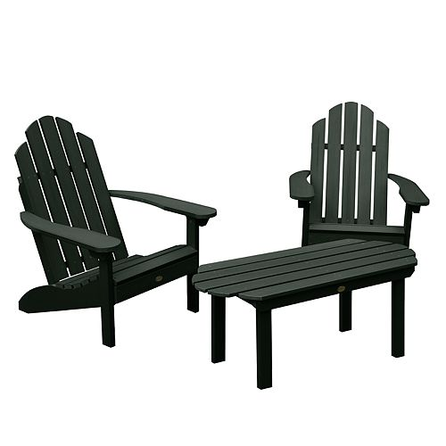 Highwood Westport Adirondack Chairs with Conversation Table