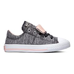 e6019d4fab92 Girls  Converse Chuck Taylor All Star Maddie Double Tongue Sneakers. Black  Coral Lilac Pink