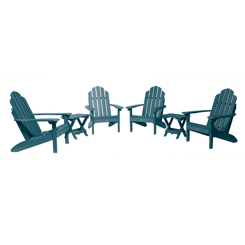 Highwood Westport Adirondack Chairs with Folding Side Tables