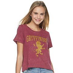 1e4e4ccd Juniors' Harry Potter Gryffindor Short-Sleeve Crop Tee