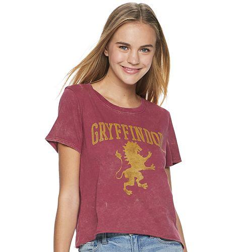 e9f298fc136 Juniors' Harry Potter Gryffindor Short-Sleeve Crop Tee