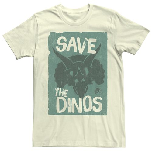 Men's Jurassic World Fallen Kingdom Save the Dinos Tee