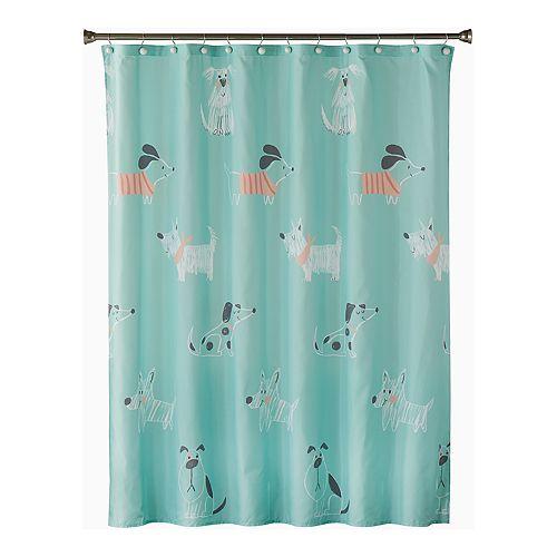 Saturday Knight, Ltd. Scribble Pup Shower Curtain