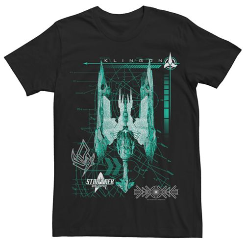 Men's Star Trek Discovery Klingon Ship Graphic Tee
