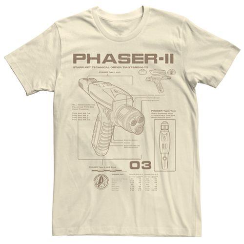 Men's Star Trek Discovery Phaser-II Schematics Graphic Tee