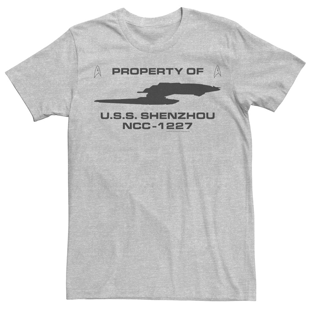 Men's Star Trek Discovery Property of U.S.S. Shenzhou NCC-1227 Graphic Tee