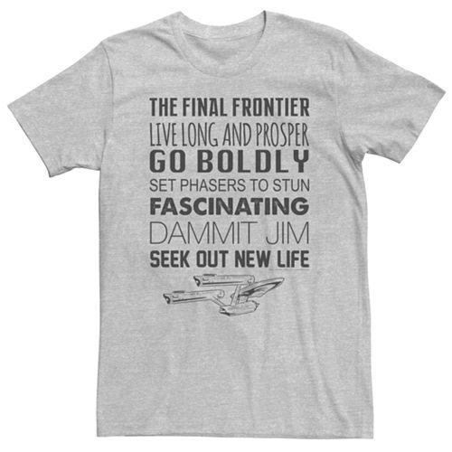 Men's Star Trek Quotes Graphic Tee