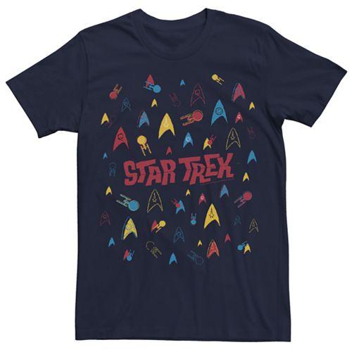 Men's Star Trek Retro Confetti Graphic Tee