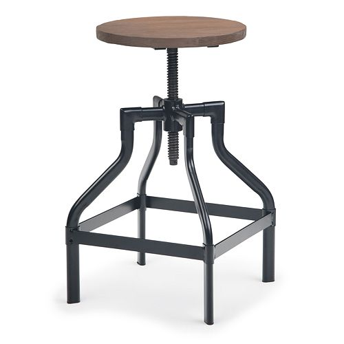 Simpli Home Conley Counter Stool - Wood in Cocoa Brown