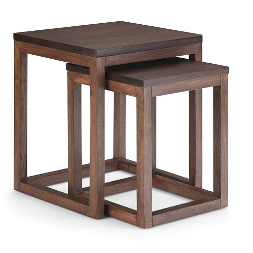Simpli Home Landon 2 Pc Nesting Table