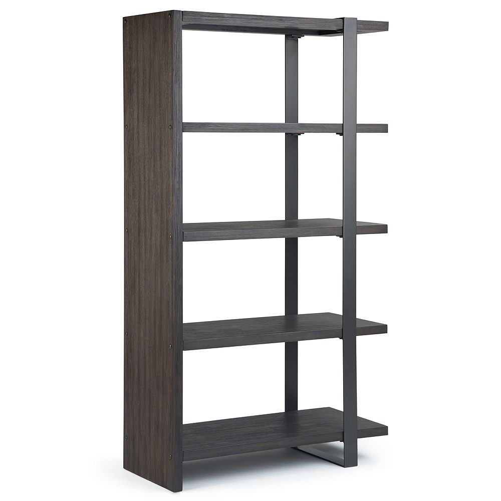 Simpli Home Montgomery Solid Acacia Wood Bookcase