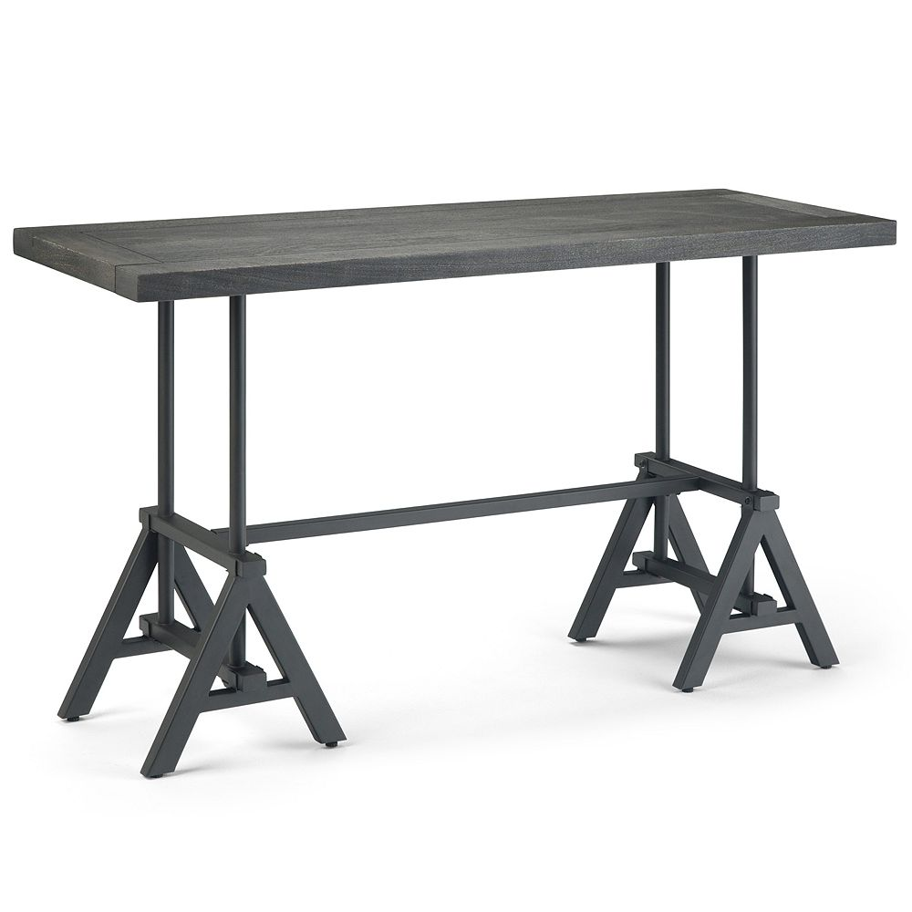 Simpli Home Sklar Console Table - Distressed Dark Brown