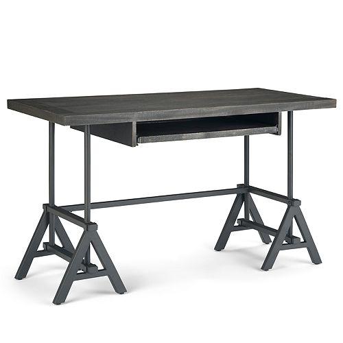 Simpli Home Sklar Desk - Distressed Dark Brown