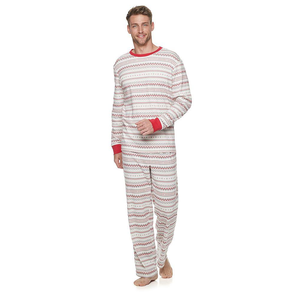 Men's LC Lauren Conrad Jammies For Your Families Fairisle Top & Bottoms Pajama Set
