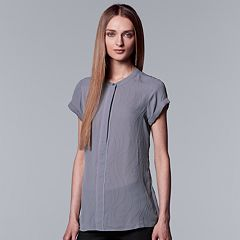 Women's Simply Vera Vera Wang Essential Textured Popover Top