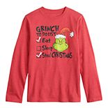 Boys 8-20 The Grinch Stole Christmas To Do List Tee