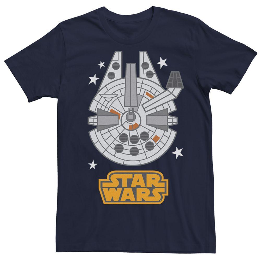 Men's Star Wars Cartoon Style Millennium Falcon Tee