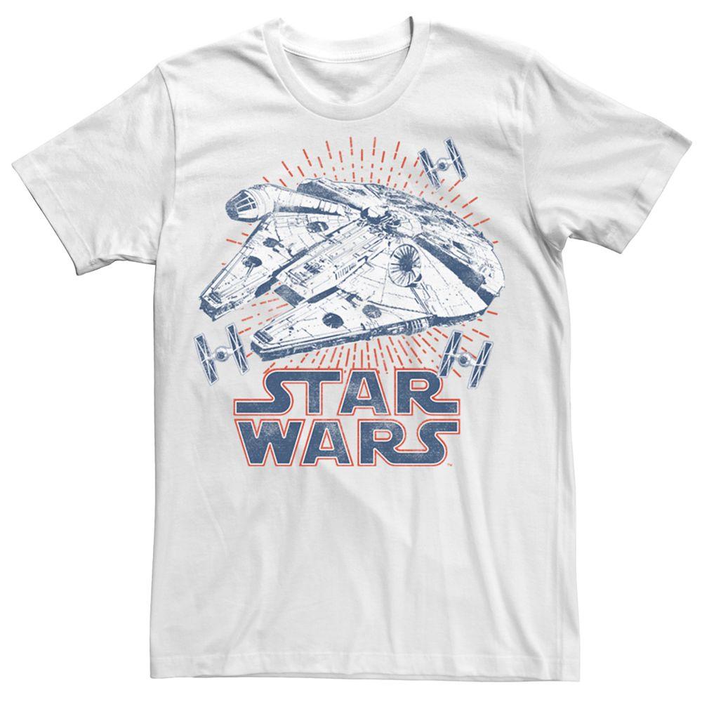 Men's Star Wars A New Hope Millennium Falcon Rays Tee