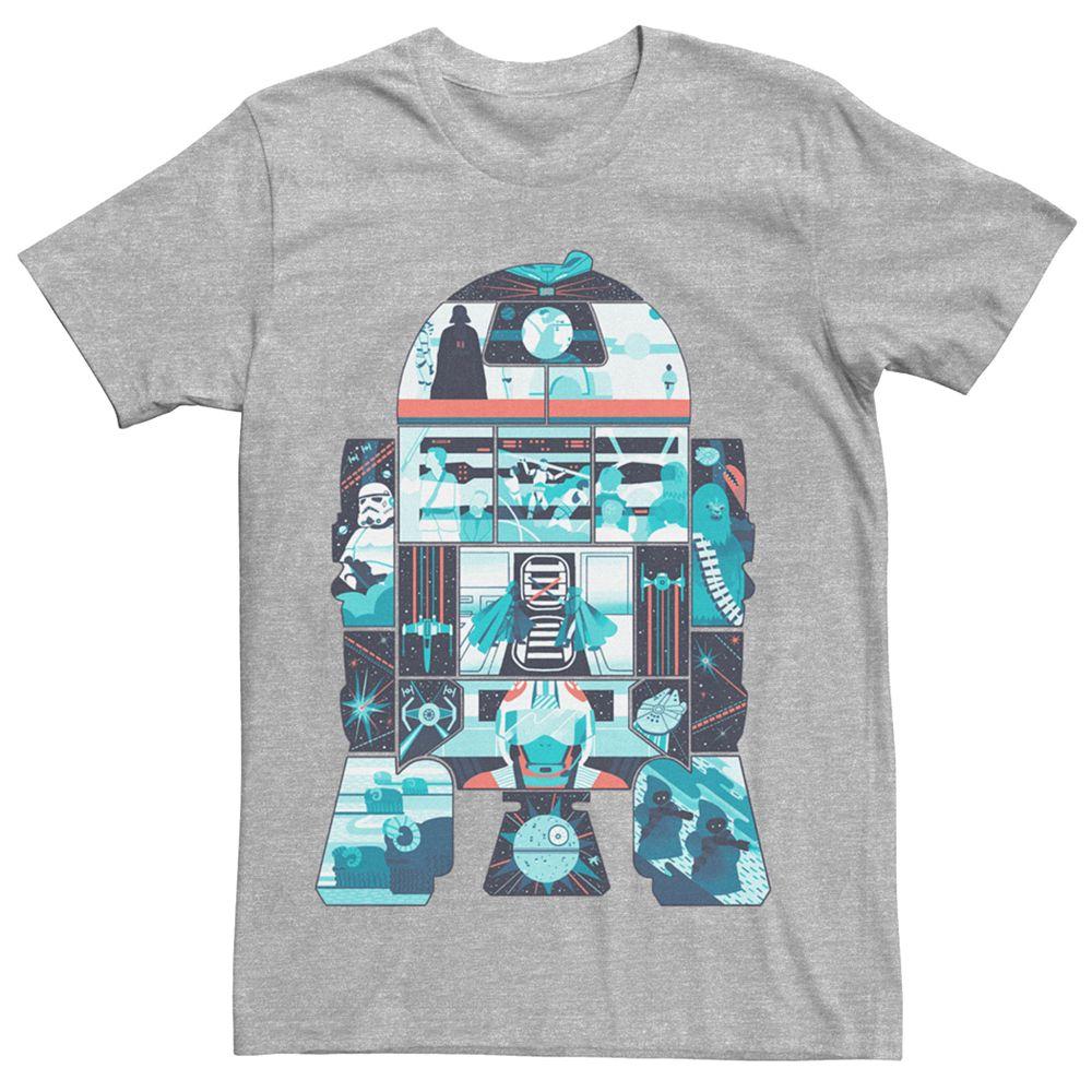 Men's Star Wars R2D2 Art Fill Tee