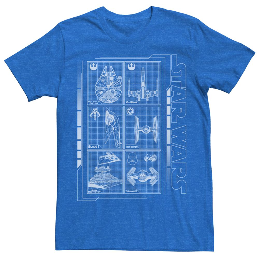 Men's Star Wars Battleship Schematics Tee