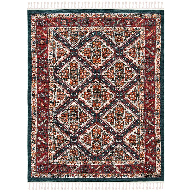 Freshen up your homestead with this inviting Safavieh Farmhouse Abby rug. In ivory/navy.FEATURES Durable loop pile CONSTRUCTION & CARE Polyester, cotton Transparent sprayed latex backing Pile height: 0.24\\\'\\\' Spot clean Imported Attention: All rug sizes are approximate and should measure within 2-6 inches of stated size. Pattern may also vary slightly. This rug does not have a slip-resistant backing. Rug pad recommended to prevent slipping on smooth surfaces. . Size: 5X7 Ft. Color: White. Gender: unisex. Age Group: adult. Material: Polypropylene.