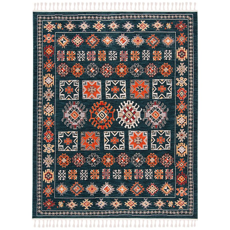 Freshen up your homestead with this inviting Safavieh Farmhouse Anita rug. In navy/orange.FEATURES Durable loop pile CONSTRUCTION & CARE Polyester, cotton Transparent sprayed latex backing Pile height: 0.24\\\'\\\' Spot clean Imported Attention: All rug sizes are approximate and should measure within 2-6 inches of stated size. Pattern may also vary slightly. This rug does not have a slip-resistant backing. Rug pad recommended to prevent slipping on smooth surfaces. . Size: 3X5 Ft. Gender: unisex. Age Group: adult. Material: Polypropylene.