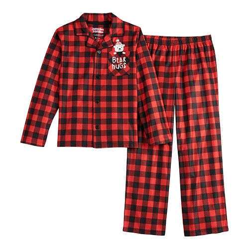 Unisex 4-14 Jammies For Your Families Cool Bear Top & Bottoms Pajama Set by Cuddl Duds