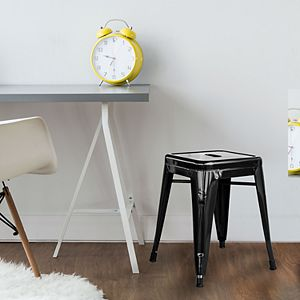 "AmeriHome Loft Gold 18"" Metal Bar Stool"