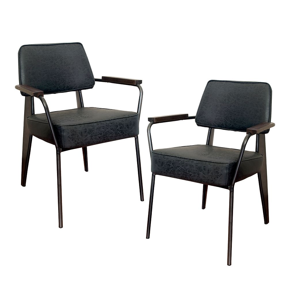 AmeriHome Fauteuil Direction Accent Chair - 2 Piece Set