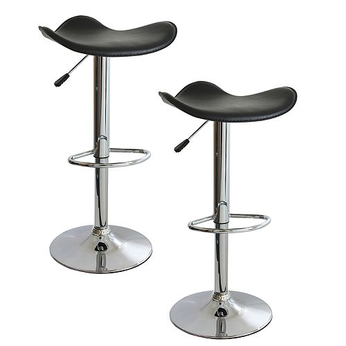 AmeriHome Classic Essential Bar Stool 2-Piece Set