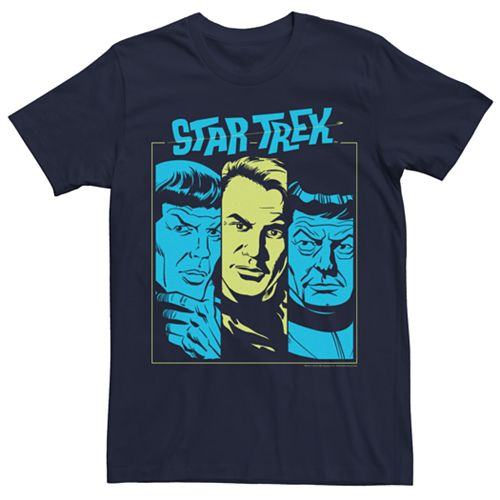 Men's Star Trek The Original Series Pop Color Face Tee