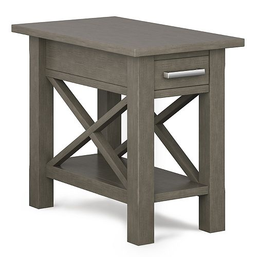 Simpli Home Kitchener Wood Narrow Side Table
