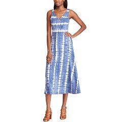 Women's Chaps Blue Sleeveless Dress