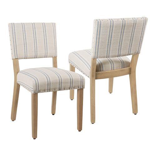 HomePop Striped Dining Chair 2-piece set