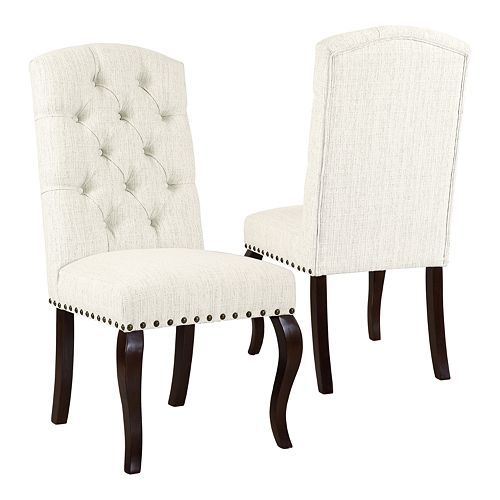 HomePop Tufted Back Dining Chair 2-piece Set