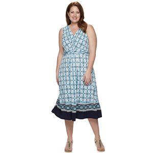7ba131d53b Plus Size Apt. 9® Easy Plus A-Line Dress With Knot Detail