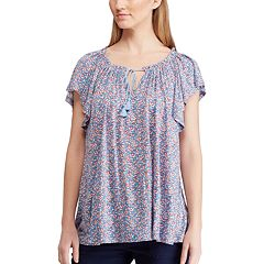 Women's Chaps Floral Peasant Tunic Top