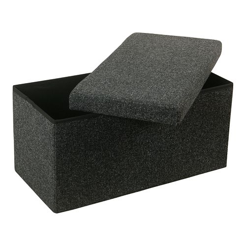 HomePop Collapsible Gray Storage Bench