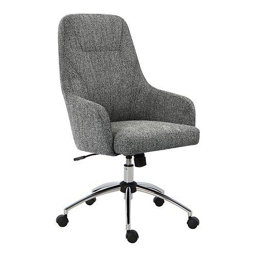 HomePop High-Back Swivel Desk Chair