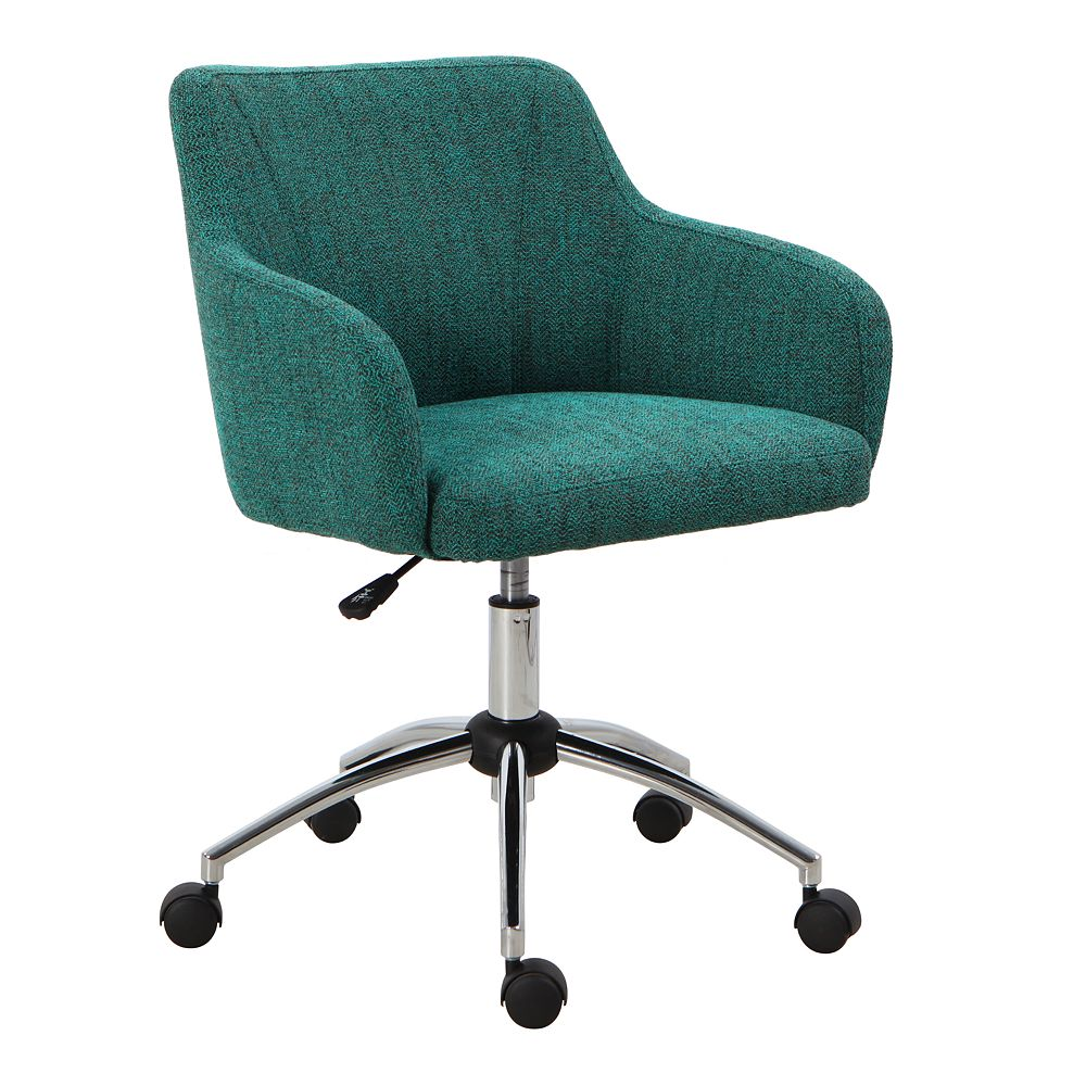 HomePop Mid-Back Teal Swivel Office Chair
