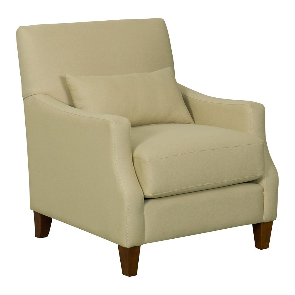HomePop Pillowtop Edwin Taupe Accent Chair